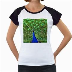 Bird Peacock Women s Cap Sleeve T