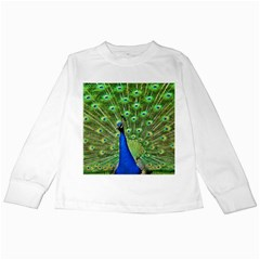 Bird Peacock Kids Long Sleeve T Shirts