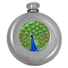 Bird Peacock Round Hip Flask (5 Oz)