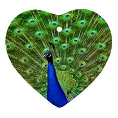 Bird Peacock Heart Ornament (2 Sides)