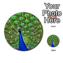 Bird Peacock Multi Purpose Cards (round)  by AnjaniArt