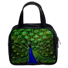Bird Peacock Classic Handbags (2 Sides)