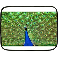 Bird Peacock Double Sided Fleece Blanket (mini)
