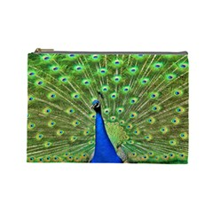 Bird Peacock Cosmetic Bag (large)