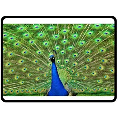 Bird Peacock Fleece Blanket (large)