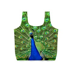 Bird Peacock Full Print Recycle Bags (s)  by AnjaniArt