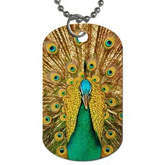 Bird Peacock Feathers Dog Tag (one Side)