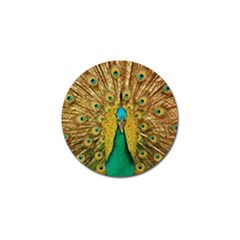 Bird Peacock Feathers Golf Ball Marker