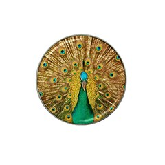 Bird Peacock Feathers Hat Clip Ball Marker (4 Pack)