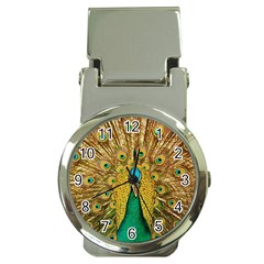 Bird Peacock Feathers Money Clip Watches