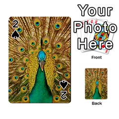 Bird Peacock Feathers Playing Cards 54 Designs