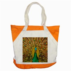 Bird Peacock Feathers Accent Tote Bag
