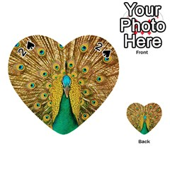 Bird Peacock Feathers Playing Cards 54 (heart)