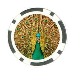 Bird Peacock Feathers Poker Chip Card Guards