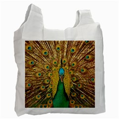 Bird Peacock Feathers Recycle Bag (two Side)