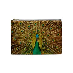 Bird Peacock Feathers Cosmetic Bag (medium)