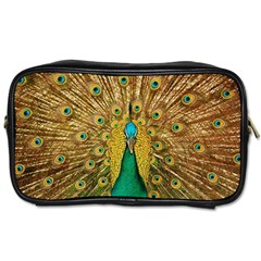 Bird Peacock Feathers Toiletries Bags