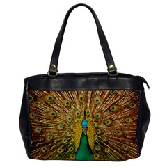 Bird Peacock Feathers Office Handbags