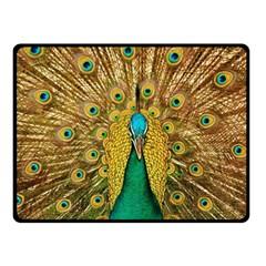 Bird Peacock Feathers Fleece Blanket (small)