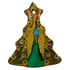 Bird Peacock Feathers Christmas Tree Ornament (2 Sides)