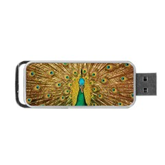 Bird Peacock Feathers Portable Usb Flash (one Side)