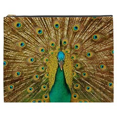 Bird Peacock Feathers Cosmetic Bag (xxxl)