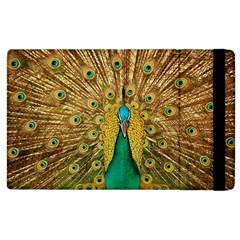 Bird Peacock Feathers Apple Ipad 2 Flip Case