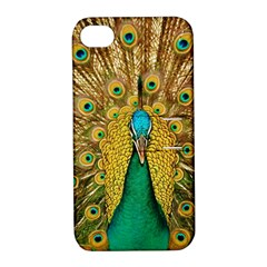 Bird Peacock Feathers Apple Iphone 4/4s Hardshell Case With Stand