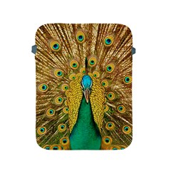Bird Peacock Feathers Apple Ipad 2/3/4 Protective Soft Cases by AnjaniArt