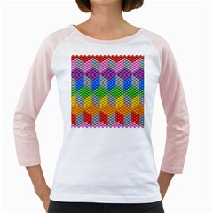 Block Pattern Kandi Pattern Girly Raglans