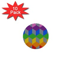 Block Pattern Kandi Pattern 1  Mini Buttons (10 Pack)