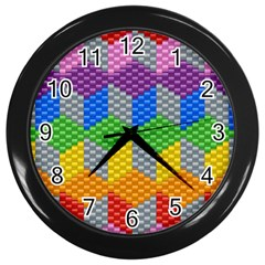Block Pattern Kandi Pattern Wall Clocks (black)