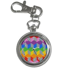 Block Pattern Kandi Pattern Key Chain Watches