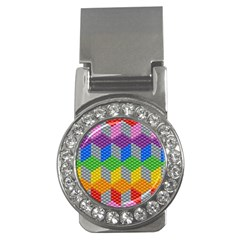 Block Pattern Kandi Pattern Money Clips (cz)