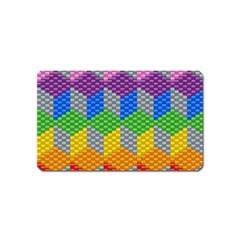 Block Pattern Kandi Pattern Magnet (name Card)