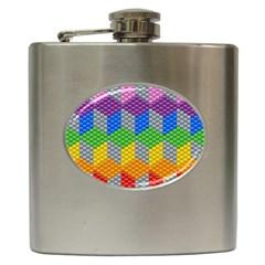 Block Pattern Kandi Pattern Hip Flask (6 Oz)