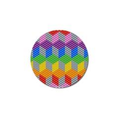 Block Pattern Kandi Pattern Golf Ball Marker (4 Pack)