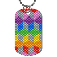 Block Pattern Kandi Pattern Dog Tag (two Sides)