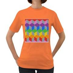 Block Pattern Kandi Pattern Women s Dark T Shirt by AnjaniArt
