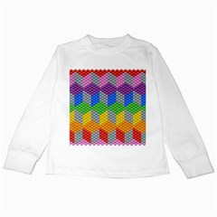 Block Pattern Kandi Pattern Kids Long Sleeve T Shirts