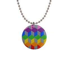 Block Pattern Kandi Pattern Button Necklaces