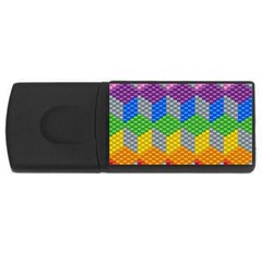 Block Pattern Kandi Pattern Usb Flash Drive Rectangular (4 Gb)
