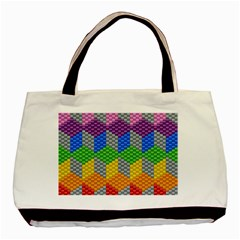 Block Pattern Kandi Pattern Basic Tote Bag