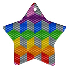 Block Pattern Kandi Pattern Star Ornament (two Sides)