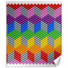 Block Pattern Kandi Pattern Canvas 8  X 10