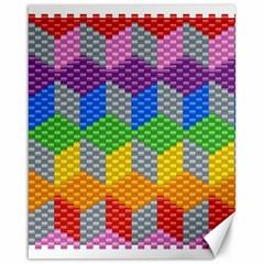 Block Pattern Kandi Pattern Canvas 16  X 20