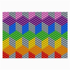 Block Pattern Kandi Pattern Large Glasses Cloth