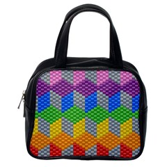 Block Pattern Kandi Pattern Classic Handbags (one Side)