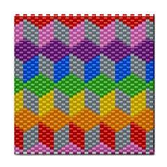 Block Pattern Kandi Pattern Face Towel