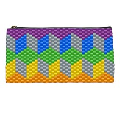 Block Pattern Kandi Pattern Pencil Cases